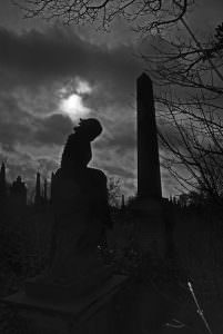 undercliffe cemetery graves silhouette